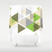 geo Shower Curtains featuring Geo by Rupert & Company
