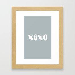 xoxo - hugs and kisses Framed Art Print