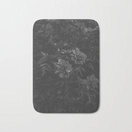 Floral (Black and White) Bath Mat