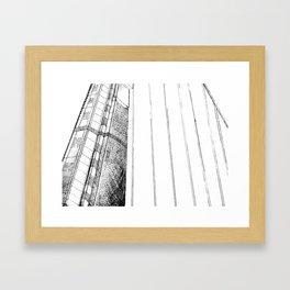 Monotone Bridge Framed Art Print