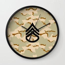 Staff Sergeant (Desert Camo) Wall Clock