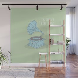 You Spin Me Right Round #kawaii #round Wall Mural
