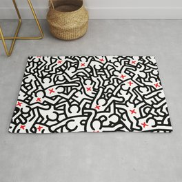 Keith Haring Variation #33 Rug