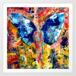 Butterfly 1, Acrylic On Canvas, Chase Medved Art Print