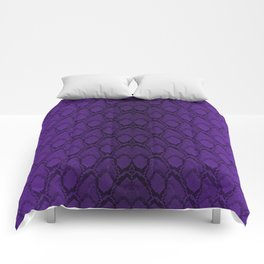 Purple and Black Python Snake Skin Comforters