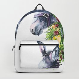 Donkey watercolor Backpack