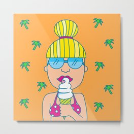 Ice Cream Dreams Metal Print