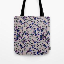 Spring Blossom black Background Tote Bag