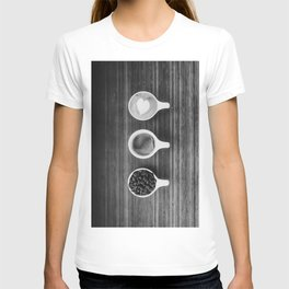 Three Coffee (Black and White) T-shirt