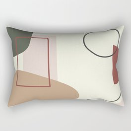 live with love - on ebony backgroung Rectangular Pillow