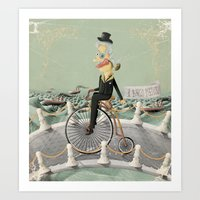 gentleman Art Prints featuring Gentleman by Cacho de Colegiales