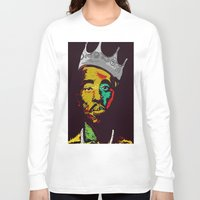 tupac Long Sleeve T-shirts featuring Tupac's Back by Dazed N Amused