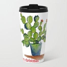 Chistmas Cactus Travel Mug