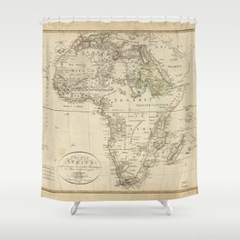 Map of Africa (1804) Shower Curtain