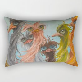 Group of 8 on Blue Rectangular Pillow