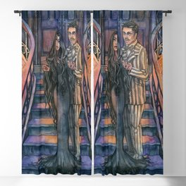 Morticia and Gomez Blackout Curtain