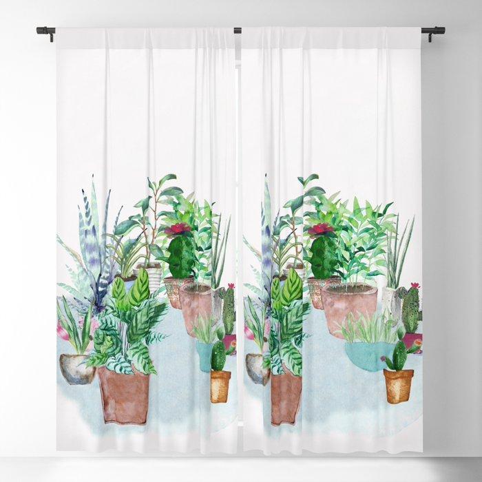 Plants 2 Blackout Curtain