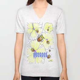 BBEROES Jelly Flower & Bee Unisex V-Neck