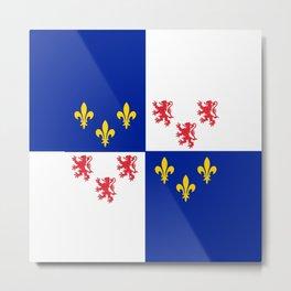 historic flag of picardie Metal Print