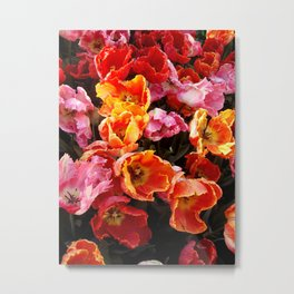 Tulip Flames Metal Print