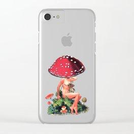Shroom Girl Clear iPhone Case