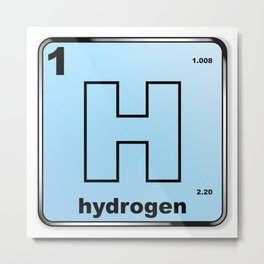 Hydrogen From The Periodic Table Metal Print