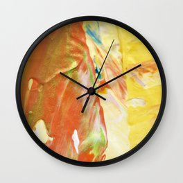 Abstraction - Sunny - by LiliFlore Wall Clock