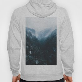 Foggy Forest Mountain Valley - Landscape Photography Hoody