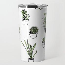 Plant Wall Succulent Pattern Travel Mug
