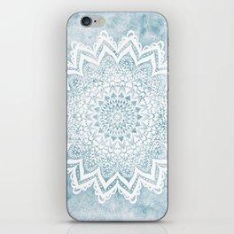 LIGHT BLUE MANDALA SAVANAH iPhone Skin