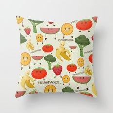 Fruity Collage Throw Pillow