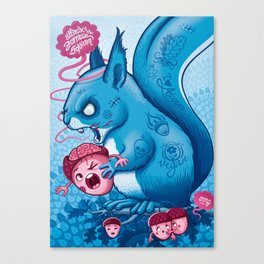 Zombie Squirrel Canvas Print