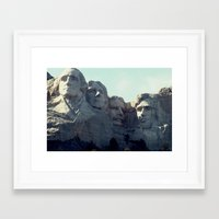 rushmore Framed Art Prints featuring Rushmore by Stetsathon