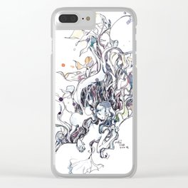 Bed of Weeds Clear iPhone Case