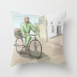 Punjabi Village 2 Throw Pillow