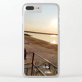 Summer Sunrise on Lake Champlain Clear iPhone Case