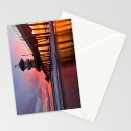 HB Sunsets  3-21-16 - Sunset At The Huntington Beach Pier Stationery Cards