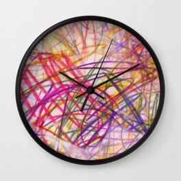 Ilaria Multi Scribble Wall Clock
