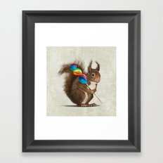 Squirrel with lollipop Framed Art Print