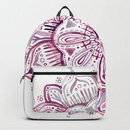 Burgundy Blush Watercolor Mandala Backpack