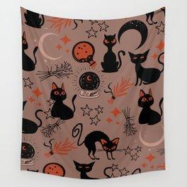Cats Casting Spells Wall Tapestry