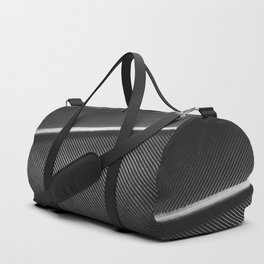 Elegant silver pigeon feather texture Duffle Bag