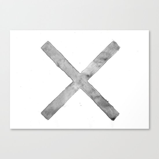 BLACK AND WHITE CROSS Canvas Print