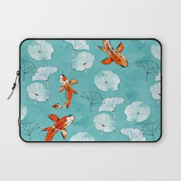 Waterlily koi in turquoise Laptop Sleeve