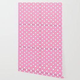 Pink Pastel Polka Dots Wallpaper
