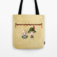 german Tote Bags featuring German Chibis by artwaste