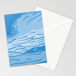 abstract style aurora borealis abswb Stationery Cards