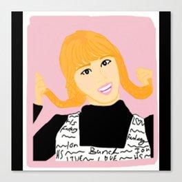Knock Knock! Momo Pink Canvas Print