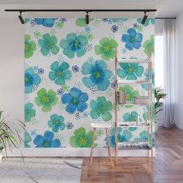 Floating Sea Flowers Wall Mural