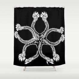 inverted seastar Shower Curtain